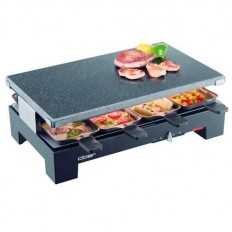 Cloer 8 persoons steen/raclette grill 6420