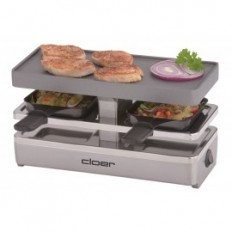 Cloer 2 persoons steen/raclette grill 6495