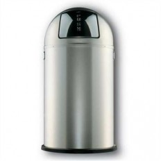 Wesco Pushboy 50 liter zilver